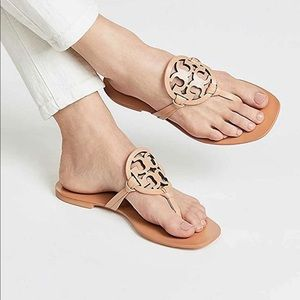 Tory Burch square toe miller sandals NIB size 11